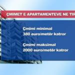Cmimet e apartamenteve ne Tirane sipas zonave 2012 (VIDEO)