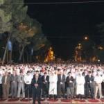 Falja e teravive per naten e Kadrit ne Tirane 14 Gusht 2012.