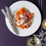 Si të gatuajmë antipastë me salmon, finok dhe limon të ëmbël